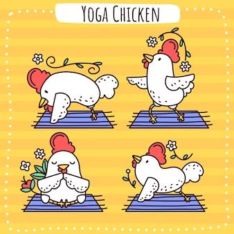 Frango para ioga