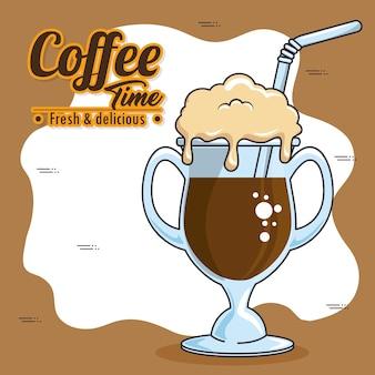 Frappe e café com bebida fria