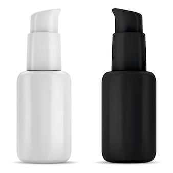 Frasco com bomba de soro, frascos dispensadores com bomba de cosméticos para base, embalagem sem ar