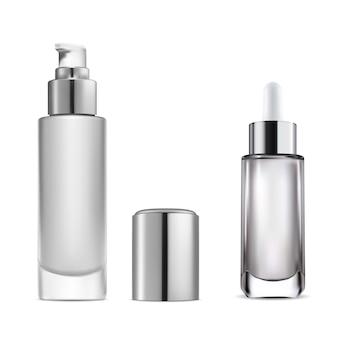 Frasco conta-gotas de soro cosmético frasco com bomba de água essencial