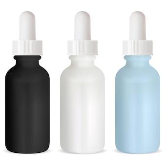 Frasco conta-gotas, frascos de vidro de soro cosmético, embalagem de óleo essencial com conta-gotas