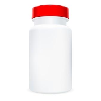 Frasco de comprimido. recipiente de medicamentos de medicina.