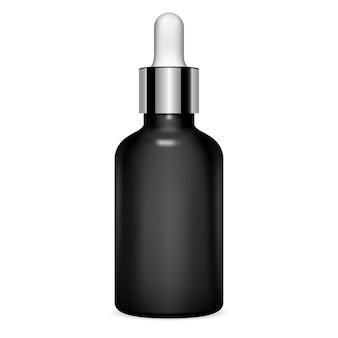 Frasco de conta-gotas. sérum cosmético. frasco transparente