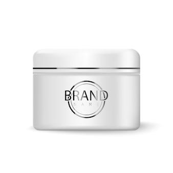 Frasco de creme cosmético isolado no branco