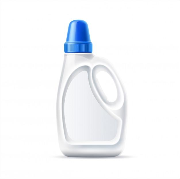 Frasco de detergente para a roupa realista em branco