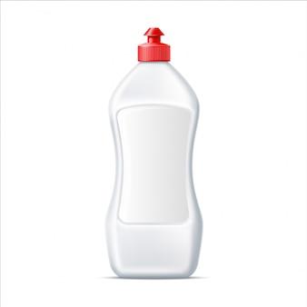 Frasco de detergente para lavar louça em branco