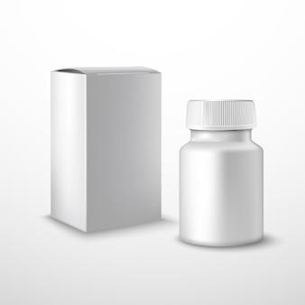Frasco de medicamento em branco