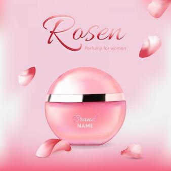 Frasco de perfume elegante para mulheres
