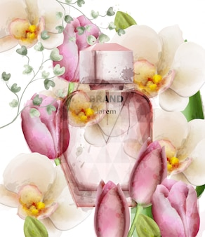 Frasco de perfume mulheres floral