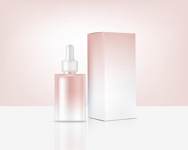Frasco de perfume realista mock up