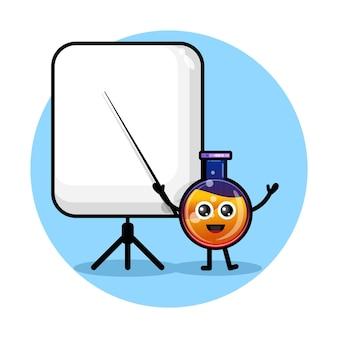 Frasco de poção do professor logotipo de personagem fofo