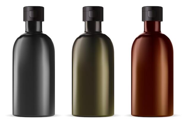 Frasco de remédio de vidro marrom óleo essencial