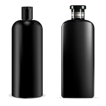 Frasco de shampoo preto