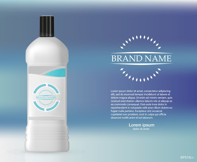 Frasco de shampoo