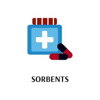 Frasco de sorventes para alergia ou envenenamento