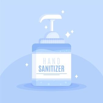 Frasco de spray com desinfetante para as mãos e limpeza espumante