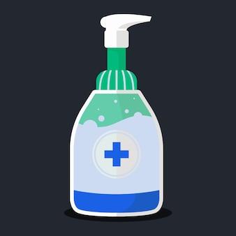 Frasco de spray com desinfetante para as mãos