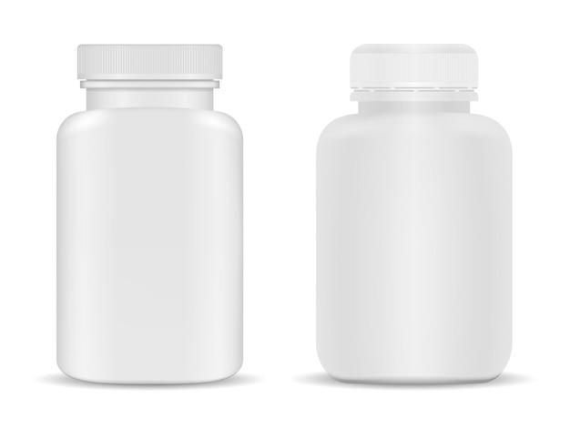 Frasco de suplemento de medicamento
