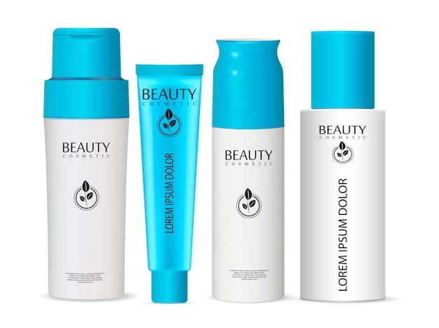 Frasco de xampu pode creme conjunto de frascos de cosméticos de tubo