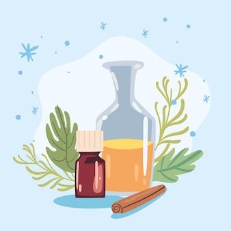 Frasco e garrafa do spa