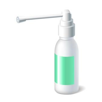 Frasco para spray medicinal para a garganta