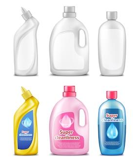 Frascos de plástico para produtos de limpeza