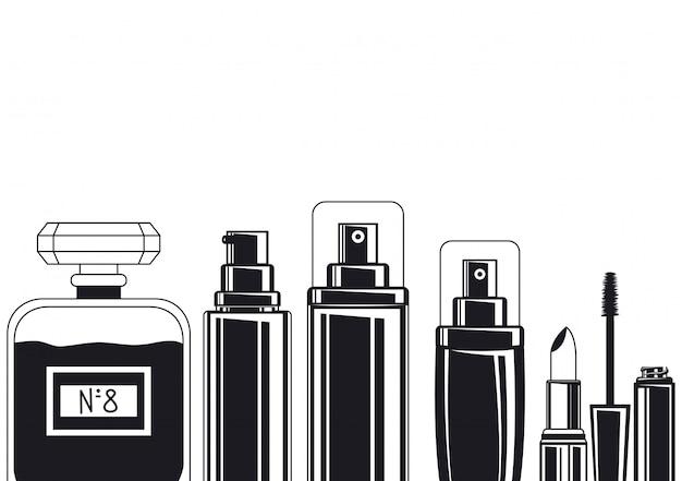 Frascos de respingos e fragrâncias compõem acessórios