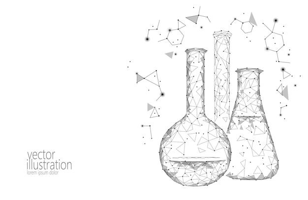 Frascos de vidro químico de baixa ciência poli