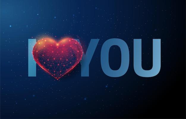 Frase abstrata te amo de coração