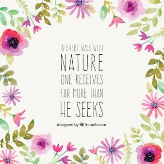 Frase bonita da natureza