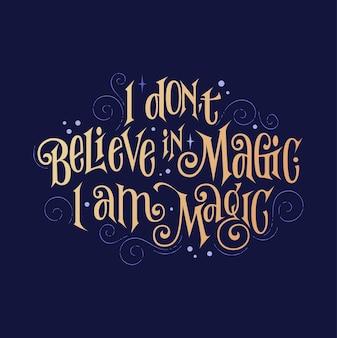 Frase de fantasia de inspiração linda citação de letras com tema mágico