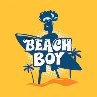 Frase de menino de praia. citação de verão