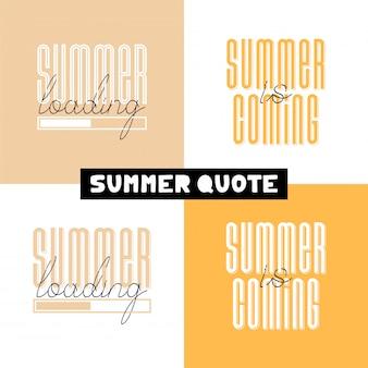 Frase de rotulação de mão desenhada conceitual verão carregamento.