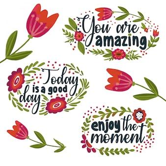 Frases e flores positivas