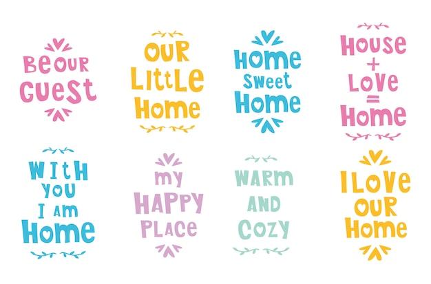 Frases fofas ou letras em casa