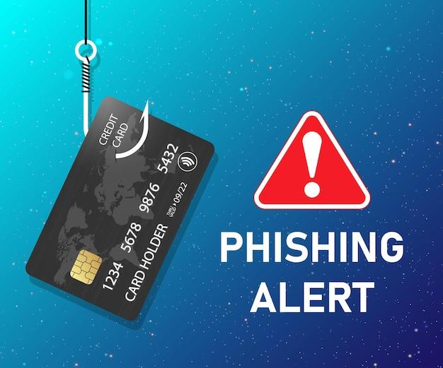Fraude de cartão de crédito roubo de dados bancários alerta de phishing