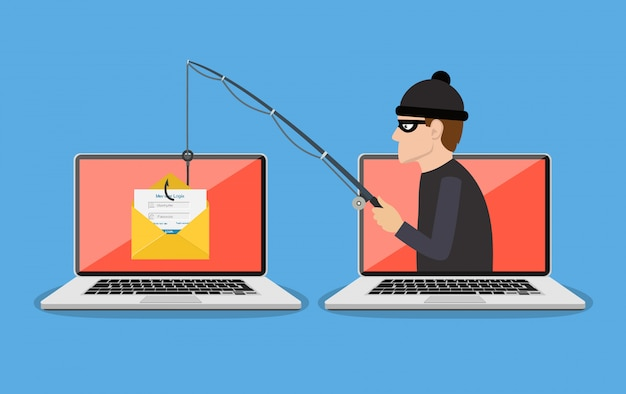 Fraude de phishing, ataque de hackers