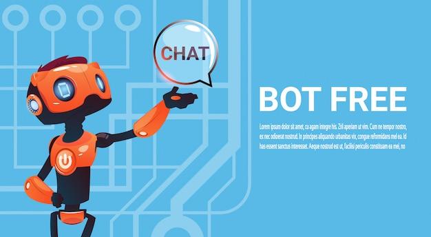 Free chat bot, elemento de assistência virtual robô do site ou aplicações móveis, artificial intell