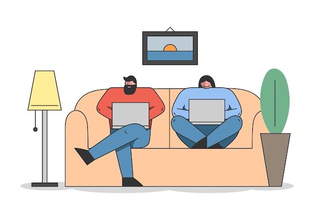 Freelance, trabalho remoto e conceito de auto-emprego.