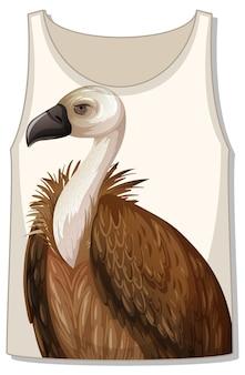 Frente da blusa com modelo de abutre