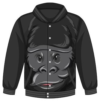 Frente da jaqueta bomber com estampa de gorila