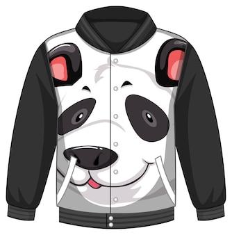 Frente da jaqueta bomber com padrão panda