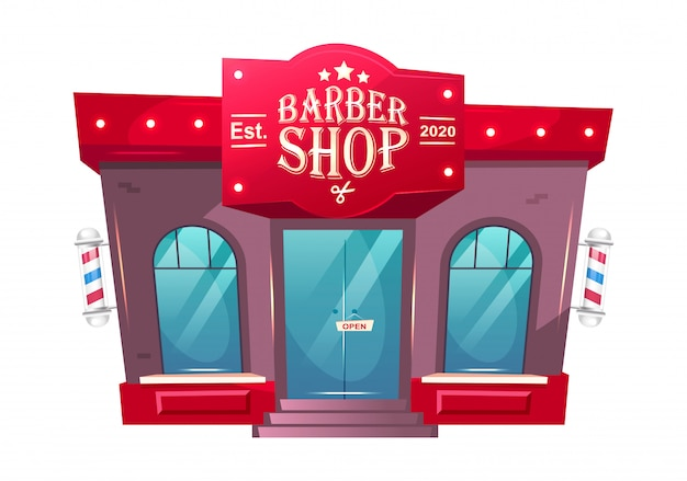 Frente de loja de barbeiro