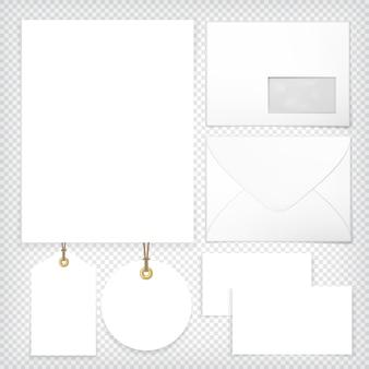 Frente de volta do envelope em branco