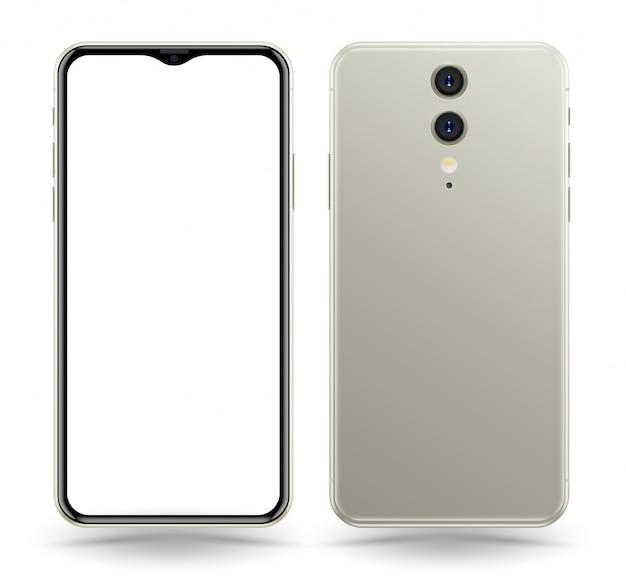 Frente e verso do smartphone