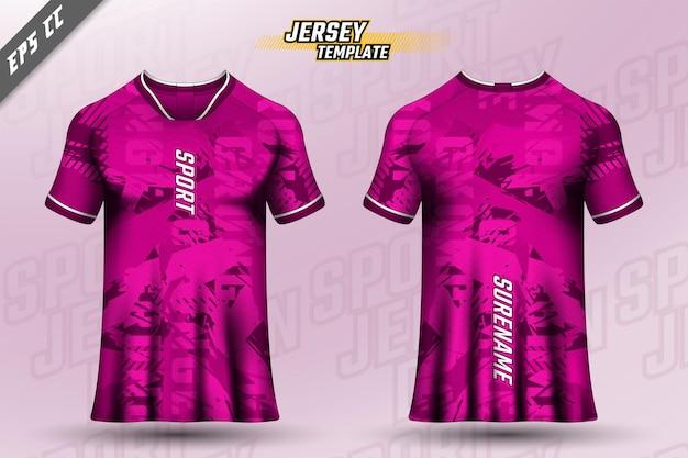 Frente verso tshirt design design desportivo para corrida de ciclismo gaming vector jersey