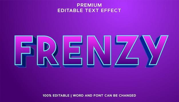 Frenzy - estilo de efeito de texto editável