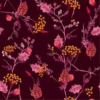 Fresco, outono, padrão
