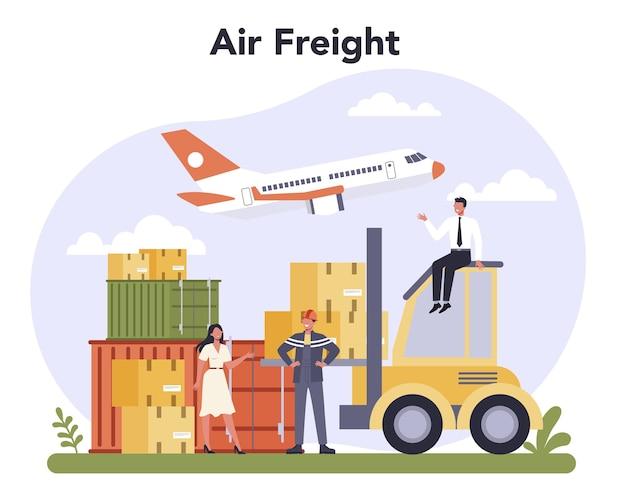 Frete aéreo e indústria de logística