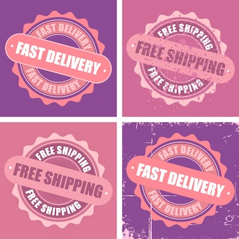 Frete grátis e selos de entrega rápida